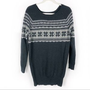 AMERICAN EAGLE Fair Isle Pullover Sweater Long